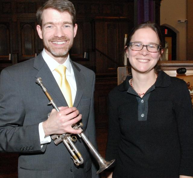 DuoTrompette is Brian Reichenbach, trumpet and Rhonda Sider Edgington, organ